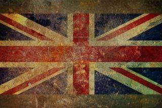 Scarpe Converse All Star Vintage Ct Hi UK Flag Bandiera Inglese