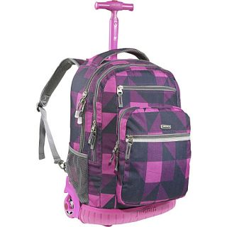 World Sundance Laptop Rolling Backpack Block Pink