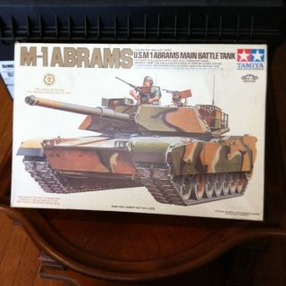 Vintage Tamiya Model Kit M 1 Abrams Main Battle Tank Army Military