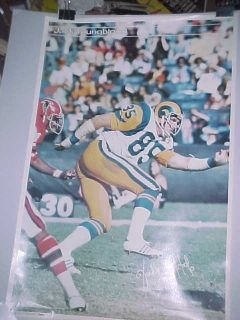 1977 Jack Youngblood Los Angeles Rams Sports Illustrated Poster