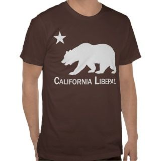 Star and Bear: California Liberal Tee Shirt