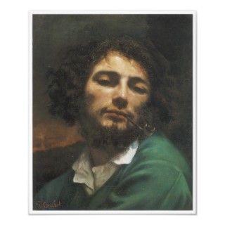 Retrato del artista, hombre con un tubo, 1848 49 poster de