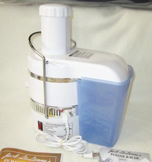 Jack Lalannes Power Juicer Model CL 003AP Juicer Extractor White