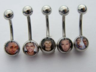 Amazing Pop Stars Collection of Logo Belly Navel Bars One Direction