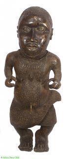 Benin Bronze Figure Court Dwarf Edo People Nigeria