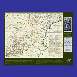 Don Quixote Route Map   Cervantes posters by QUIXOTEdotTV