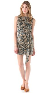 Tbags Los Angeles Draped Sleeveless Dress