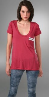 LNA Short Sleeve Zipper Pocket T Shirt