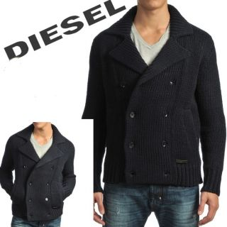 Diesel Mens Sweater K Jack Wool Navy Blue Knitwear Sz M