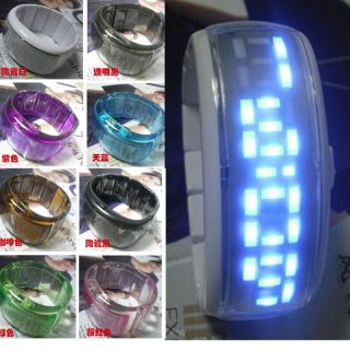 Fashion Jelly Digital LED Bracelet Bangle Women Men Wrist Watch or