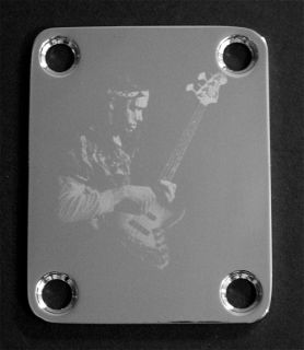 NECK PLATE Custom Engraved Etched   Fit Fender Bass   JACO PASTORIUS