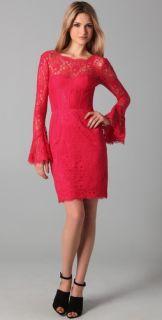 BCBGMAXAZRIA Salina Lace Corset Dress