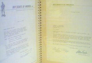 Old Boy Scouts Signed Letters Wash DC 1972 Eagle Scout