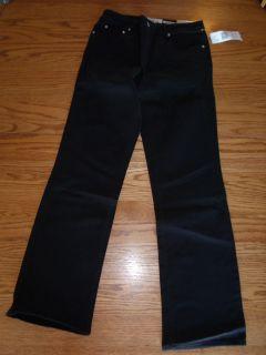 Womens Jones New York Sport 5 Pocket Pants Black Demin Jeans 6 10