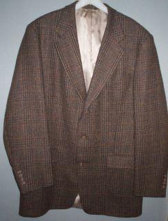 AUSTIN REED LONDON ENGLAND Wool Brown Tweed Sport Coat Jacket Blazer