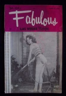 antique Jack Cortez Fabulous Las Vegas Magazine June 12, 1954 Frank
