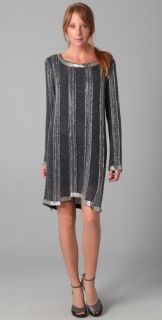 Haute Hippie Long Sleeve Beaded Dress