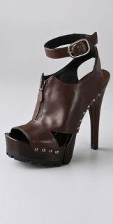 Donna Karan Collection Shoes Flex Wood Bottom Sandals
