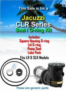 Jacuzzi CLR LR SLR Series Pool Pump Seal O Ring Kit