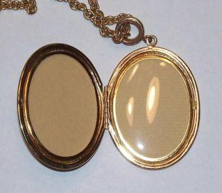 Gold Tone Whiting Davis Cameo Locket Necklace Pendant