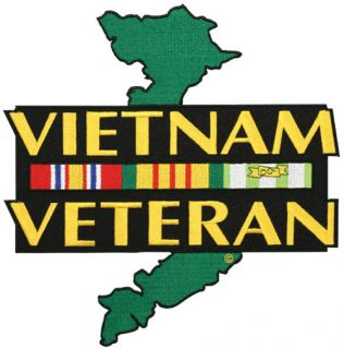 Vietnam Veteran Ribbon Embroidered Jacket Patch