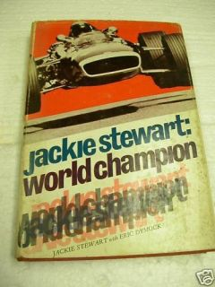 Jackie Stewart World Champion Book 1970 Hardcover 185