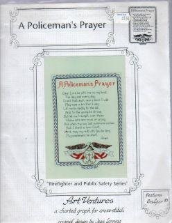 Policemans Prayer by Art Ventures Cross Stitch Pattern