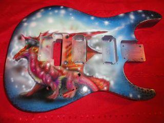 Jackson DXMG Guitar Body w Dragon Art Work