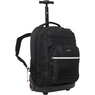 World Sundance Laptop Rolling Backpack Argyle Black
