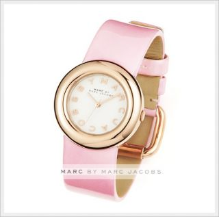 Marc by Marc Jacobs Ladies Steel Leather Wrist Watch Bracelet Gold