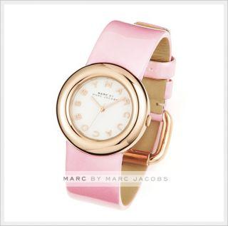 Marc by Marc Jacobs Ladies Steel Leather Wrist Watch Bracelet Gold