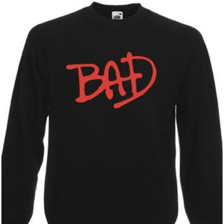 Bad Michael Jackson Sweater Sweatshirt Album Logo 80s s XXL