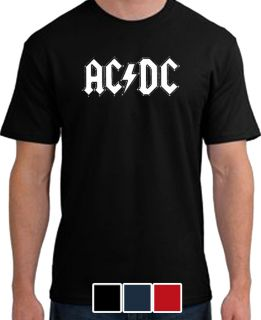 ACDC Logo Mens T Shirt Rock Music Retro Punk s 3XL