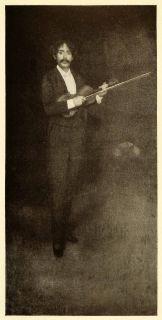 1911 Print James Abbott McNeill Whistler Art Pablo Sarasate Violinist