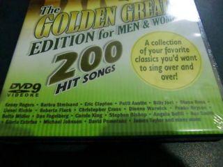 Michael Johnson James Taylor DVD Karaoke 200 Songs