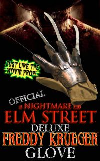 Official A Nightmare on Elm Street Freddy Krueger Plastic Cloth Glove