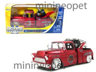 Jada 1955 55 Chevy Stepside Tow Truck 1 24 Red