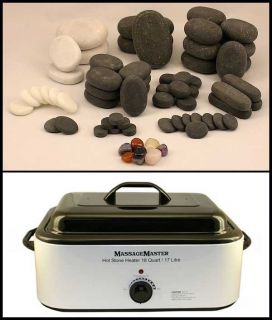 Hot Cold Stone Massage Kit 68 Basalt Marble Stones 18 Quart Hot Stone