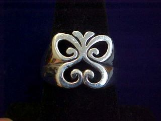 James Avery Sterling Silver Pierced Spring Butterfly Ring Nice