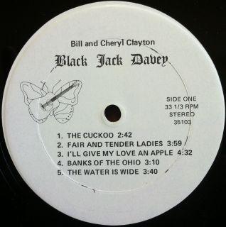 Folk Rock Blues Bill Cheryl Clayton Black Jack Davey LP Mint