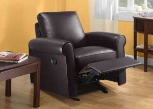 Jaclyn Smith Rocker Recliner Furniture Chair Modern Brown Decor