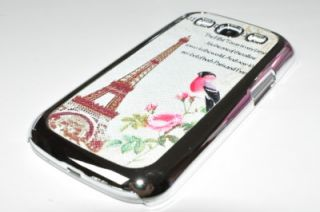 New Chrome Paris Eiffel Towner Hard Case Samsung Galaxy S3 SIII i9300