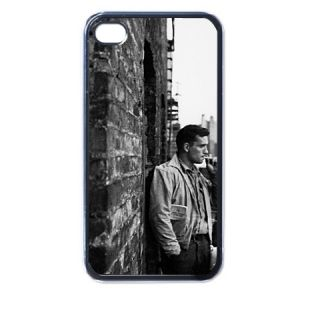 Jack Kerouac Smoking Plastic Case for iPhone 4 4S Black New Gift Idea