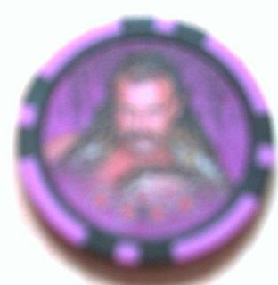 Topps WWE Power Chipz Jake The Snake Roberts Error CP