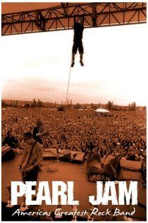 Pearl Jam Greatest American Band Poster Eddie Vedder Cool