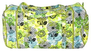 Vera Bradley Limes Up Large Duffle Duffel Bag Carry on Tote Purse New
