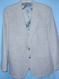 Gray Wool Business Suit Jacket Sport Coat  Size 46R  James Whitehead