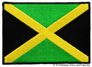 Jamaica Flag Embroidered Patch Kingston Jamaican Rasta
