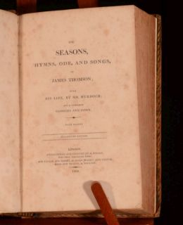 Seasons, Songs, Hymns, Ode, and Songs of James Thomson Stereotype ed