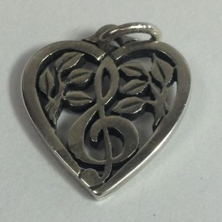 James Avery Retired Treble Clef in Heart Charm